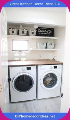 Do you want to create the best nice modern farmhouse laundry room ideas in your home? Charming and stylish laundry is indeed a choice and dreams for everyone. Then, how to create a good farmhouse laundry room design? Tiny Laundry Rooms, Basement Laundry, Farmhouse Laundry Room, Laundry Room Design, Small Laundry Closet, Laundry Closet Makeover, Dark Basement, Laundry Shelves, Laundry Room Organization