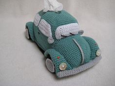Tissue Holder VW Beetle Crochet Pattern PDF by Millionbells