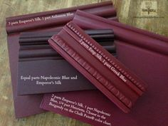Mixing a Burgundy color with Chalk Paint® decorative paint by Annie Sloan.