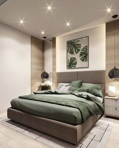 This room is staged well because of the peaceful, clean design which makes you want to experience sleeping the bed.