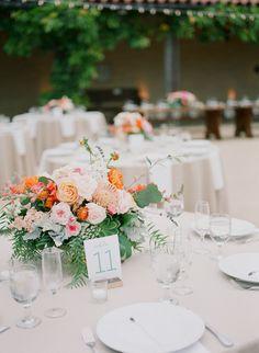 #tablescapes, #centerpiece  Photography: Diana Mcgregor Photography - www.dianamcgregor.com/  Read More: http://www.stylemepretty.com/2014/09/10/vibrant-open-air-wedding-santa-barbara/