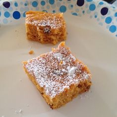 Pumpkin Bars: Mix together 1 box angel food cake mix, 1 can pumpkin, cinnamon to taste, and 1 cup cinnamon chips (optional). Pour and spread into greased 9x13 pan. Bake at 350 degrees for 20 minutes. When cool, dust with powdered sugar. Cut into 24 bars. 2 WW points each.