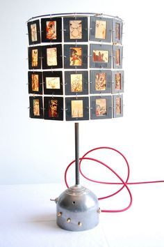 slides desk lamp - need to make this with the old family slides