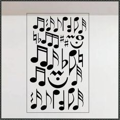 Music Wall Decal Assorted Musical Notes, Classroom Vinyl Wall Lettering, Game or Music Room Wall Decor, Teen Bedroom or Dorm Decoration Music Themed Rooms, Music Bedroom, Music Decor, Music Wall, Room Wall Decor, Room Themes, My New Room, Dorm Decorations, Music Notes