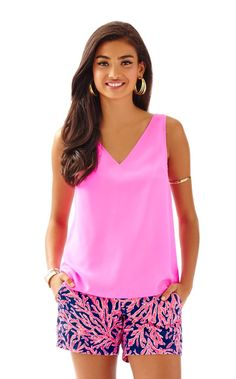 Cipriani V-Neck Top - Lilly Pulitzer Tropical Pink