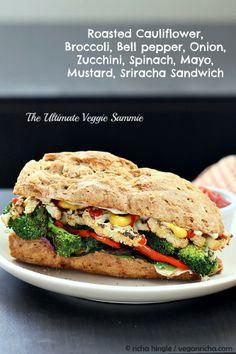 One ultimate veggie sammy