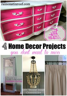 Ahhh!! Love these ideas - gotta remember them! 4 Home Decor Projects You Don't Want to Miss via rainonatinroof.com