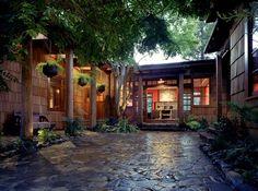 #wood #stone Asian influence