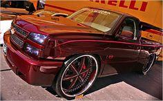 big rimmed chevys | Chevrolet Silverado with 30-inch wheels at the SEMA Show.