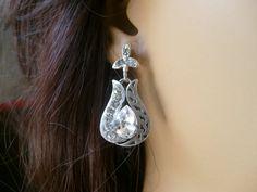 wedding jewelryart deco crystal rhinestone tibetan silver by xxyz, $30.00
