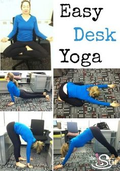 Sit all day long? 5 Easy Yoga Poses You Can Do Anywhere (PHOTOS) http://thestir.cafemom.com/healthy_living/167061/5_easy_yoga_poses_you?utm_medium=sm&utm_source=pinterest&utm_content=thestir