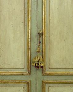 Perfect inspiration for my current project....my kitchen cabinets --- Antique Italian Door
