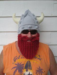 Viking beard hat Long beard Beard hat Beard Beanie by Ritaknitsall, $60.00