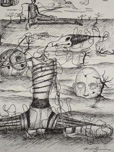 Ilustração de louco
