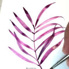 Real Time Art Process Check out this real time process video of Watercolor fern by Art Philosophy De Watercolor Paintings For Beginners, Watercolor Video, Watercolor Techniques, Watercolor Art, Watercolor Flowers Tutorial, Watercolour Tutorials, Process Art, Acrylic Art, Watercolor Illustration