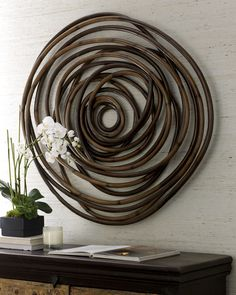 """Wooden Swirl"" Wall Decor - Neiman Marcus"