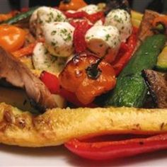 Marinated Barbequed Vegetables