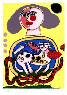 CORNEILLE Sans Titre Lithographie sur papier SBD, 1995, 60