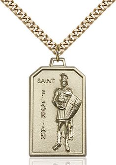 St. Florian Pendant (Gold Filled) by Bliss | Catholic Shopping .com