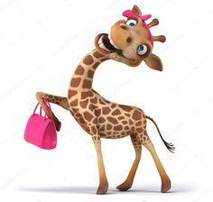 Cute Dog Drawing, Giraffe Drawing, Giraffe Art, Cute Animal Drawings, Cute Drawings, Baby Animals, Funny Animals, Cute Animals, Giraffe Birthday