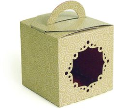 3d handled box - lace-----------------------I think I'm in love with this shape from the Silhouette Online Store!