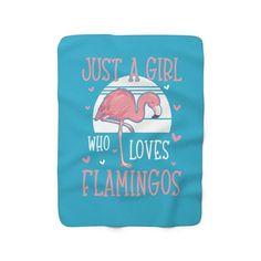 Flamingo Lover Blanket Cute Flamingo Fleece Blanket Gift | Etsy