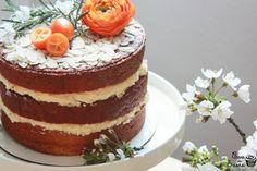Orange and almond cake with orange blossom buttercream | Cau de sucre