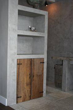 realisatie inloopbadkamer vanuit slaapkamer boerderij