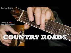COUNTRY ROADS: Fingerpicking Guitar Lesson + TAB by GuitarNick - YouTube