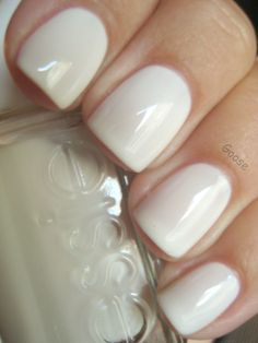 Essie marshmallow. Gorgeous! love this milky color.