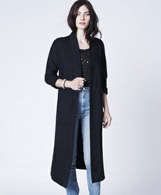 Black Tower Coat by Mary Meyer