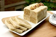 Coffee and Walnut Battenberg - This month's daring bakers challenge to make a checkered Battenberg cake.