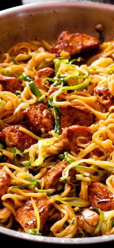 Restaurant Style Chicken Chow Mein Noodles is a simplified version of a popular Chicken Chow Mein dish. It's fool proof, not labor intensive at all and can even be made with regular Spaghetti in a skillet! #dinner #easydinner Vegetable Soup Recipes, Chicken Recipes, Vegetable Dish, Noodle Recipes, Cabbage And Noodles, Asian Recipes, Ethnic Recipes, Chinese Recipes, Mexican Recipes