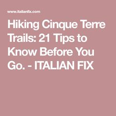 The do it yourself tour of pompeii vacation spots pinterest hiking cinque terre trails 21 tips to know before you go italian fix solutioingenieria Choice Image