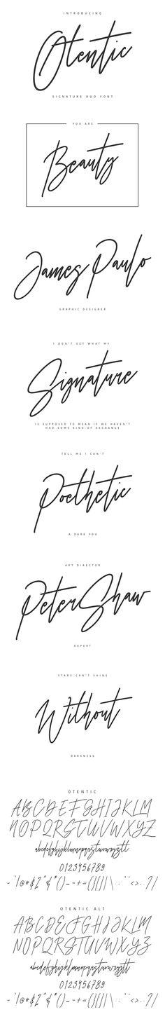 Otentic Signature Typeface #informal #swash  • Download here → https://graphicriver.net/item/otentic-signature-typeface/20832255?ref=pxcr