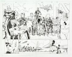 John Romita Jr, Splash Page, Global Art, Art Market, X Men, Avengers, Original Art, The Originals, Artist