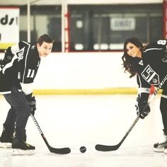 hockey engagement photos... totally effing doing this!