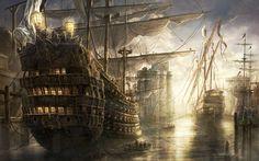 Pirate Ship Wallpaper - Widescreen Wallpapers (14258) ilikewalls.