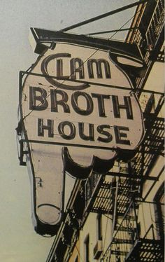 1930s HOBOKEN New Jersey Vintage Postcard CLAM BROTH HOUSE Restaurant by Christian Montone, via Flickr