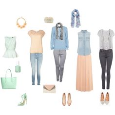 """soft summer outfits"" by sarah-louise-jones on Polyvore"