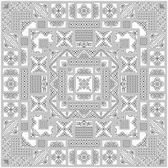 Mahjong Blackwork Design by sebadesigns on Etsy