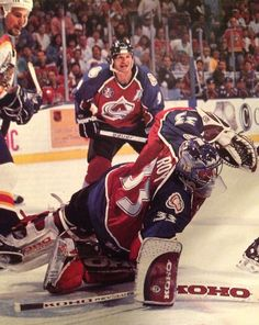 Hockey Goalie, Hockey Teams, Ice Hockey, Hockey Stuff, Patrick Roy, Erik Johnson, Golden Knights Hockey, Quebec Nordiques, Goalie Mask
