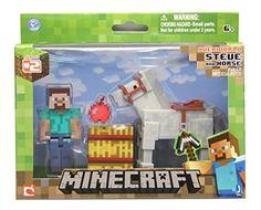 Minecraft Steve with White Horse Action Figure Minecraft http://www.amazon.com/gp/product/B00ITRZCVI/ref=as_li_qf_sp_asin_il_tl?ie=UTF8&camp=1789&creative=9325&creativeASIN=B00ITRZCVI&linkCode=as2&tag=acenorris09-20&linkId=ODD6PXBYILFIEVWS