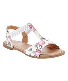 Look at this #zulilyfind! Eddie Marc Kids White & Pink Floral Sandal by Eddie Marc Kids #zulilyfinds