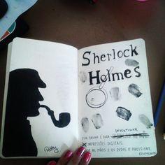Em homenagem ao meu livro e personagem favorito favorito :) #sherlockholmes  #destruaestediariofotos  #destruaestediario #wtj  #wtjbrasil #wreckthisjournal  #justafriendlynerd