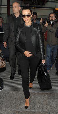 Celebrity Airport Style: Kim Kardashian. Photo by Keystone Press