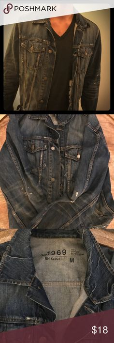 Men's Gap Denim Jacket Size M Men's Gap denim jacket originally purchased for close to $100. Used but has aged really well, with some natural fading and holes. Also really cute as a women's oversized boyfriend fit jacket! GAP Jackets & Coats http://www.99wtf.net/men/mens-fasion/idea-dress-men-dark-skin/