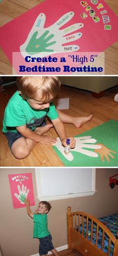 {Create a High-Five Bedtime Routine for your Child} How to create a visual guide for young kids. by young High Five, Toddler Activities, Activities For Kids, Kids Behavior, Behavior Support, Parenting Hacks, Parenting Issues, Raising Kids, Child Development