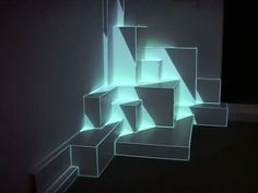 Pablo Valbuena: investigating space-time not only as a three dimensional environment, but as space in transformation. Two layers are produced: the physical layer, which controls the real space and shapes the volumetric base that serves as a support for a virtual projected layer that allows control of the transformation and sequentiality of space-time.