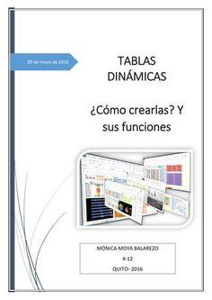 """Cover of """"Tablas Dinamicas y sus funciones"""" Microsoft Excel, Excel Tips, Vba Excel, Excel Macros, Y Words, Bussines Ideas, Training And Development, Software, Knowledge"""